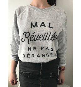 WOMAN SWEATER MAL RÉVEILLÉE NE PAS DÉRANGER