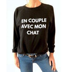 Sweat Femme EN COUPLE AVEC MON CHAT