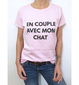 T-shirt Femme EN COUPLE AVEC MON CHAT
