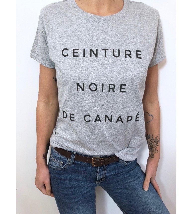 T-shirt Femme CEINTURE NOIRE DE CANAPE