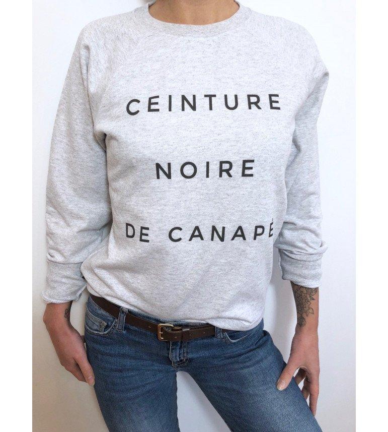 Sweat Femme CEINTURE NOIRE DE CANAPE