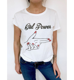 T-shirt Femme GIRL POWER BANG BANG