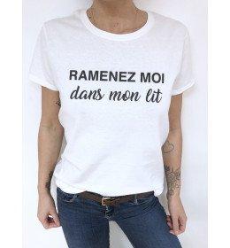 Woman T-shirt RAMENEZ MOI DANS MON LIT