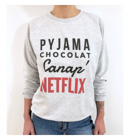 Woman Sweater PYJAMA CHOCOLAT CANAP NETFLIX