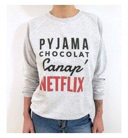 Sweat Femme PYJAMA CHOCOLAT CANAP NETFLIX
