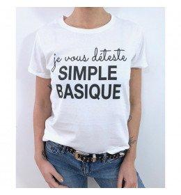 Woman T-shirt JE VOUS DÉTESTE SIMPLE BASIQUE