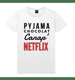 Man T-shirt PYJAMA CHOCOLAT CANAP NETFLIX