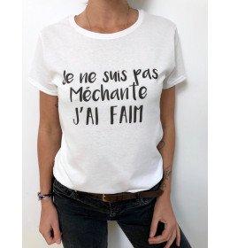 Woman T-shirt JE NE SUIS PAS MECHANTE, J'AI FAIM