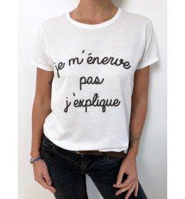 Woman T-shirt JE M'ENERVE PAS, J'EXPLIQUE