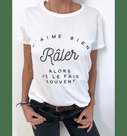 Woman T-shirt J'AIME BIEN RÂLER, ALORS JE LE FAIS SOUVENT