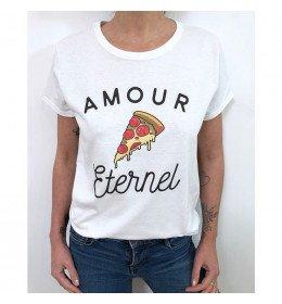 T-shirt Femme PIZZA AMOUR ÉTERNEL