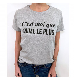 Woman T-shirt C'EST MOI QUE J'AIME LE PLUS