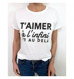 Woman T-shirt T'AIMER A L'INFINI ET AU DELA