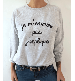 Women Sweater JE M'ENERVE PAS, J'EXPLIQUE