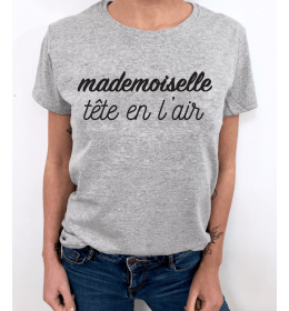 Woman t-shirt MADEMOISELLE TÊTE EN L'AIR