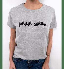 t-shirt femme PETITE SOEUR