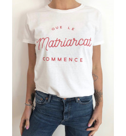 woman t-shirt NAIROBI QUE LE MATRIARCAT COMMENCE