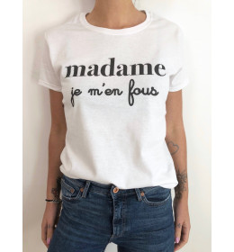 woman t-shirt MADAME JE M'EN FOUS