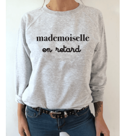WOMAN SWEATER MADEMOISELLE EN RETARD