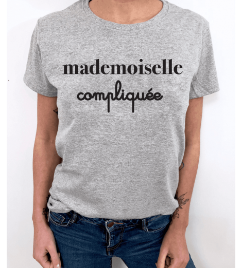 t-shirt femme MADEMOISELLE COMPLIQUEE