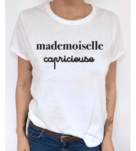 t-shirt femme MADEMOISELLE CAPRICIEUSE