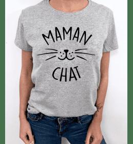 TSHIRT FEMME MAMAN CHAT