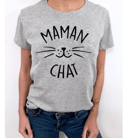 WOMAN TSHIRT MAMAN CHAT