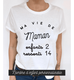 woman t-shirt MA VIE DE MAMAN