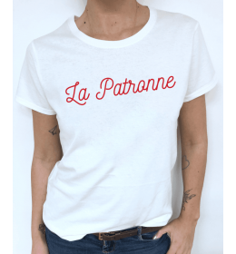woman t-shirt LA PATRONNE