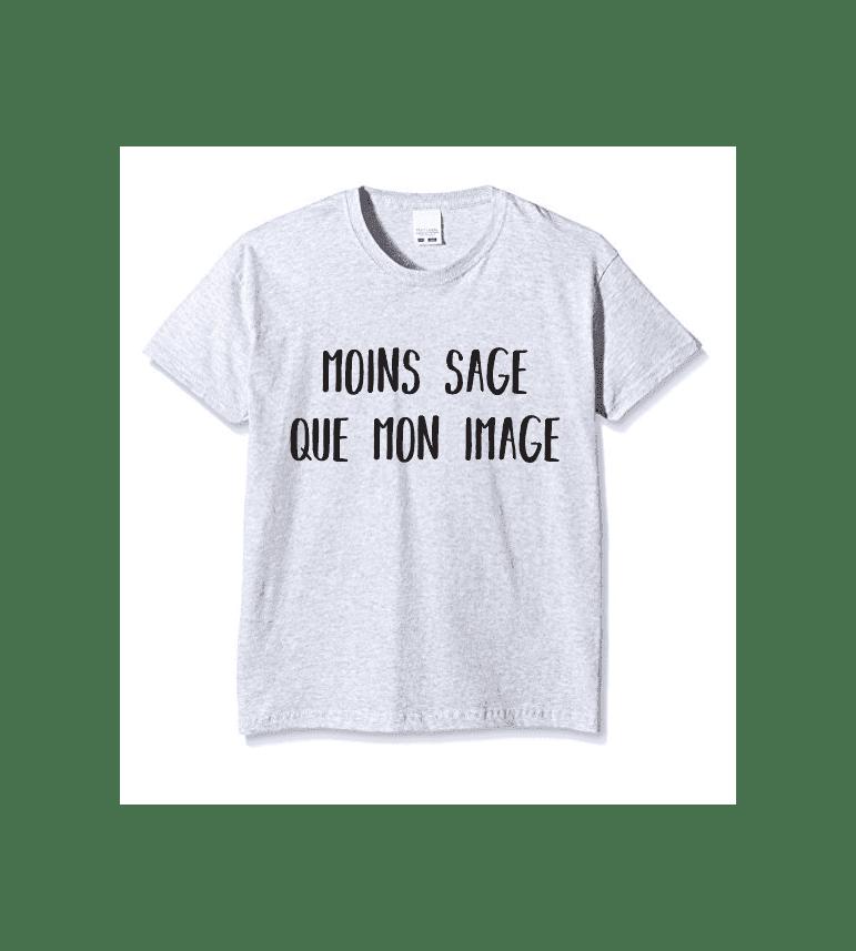 T-shirt Enfant MOINS SAGE QUE MON IMAGE