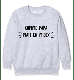Kid Sweater COMME PAPA MAIS EN MIEUX