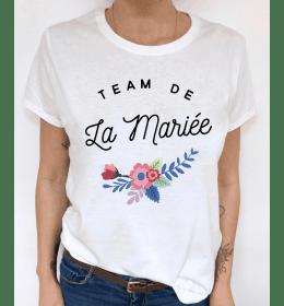 t-shirt femme TEAM DE LA MARIEE EVJF