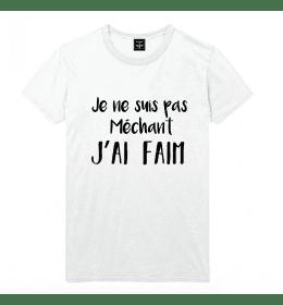 t-shirt homme JE NE SUIS PAS MECHANT, J'AI FAIM