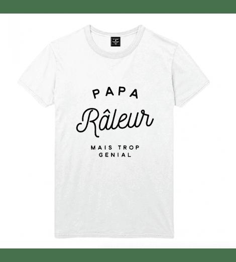 t-shirt homme PAPA RÂLEUR MAIS TROP GENIAL