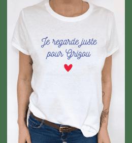 woman t-shirt JE REGARDE JUSTE POUR GRIZOU