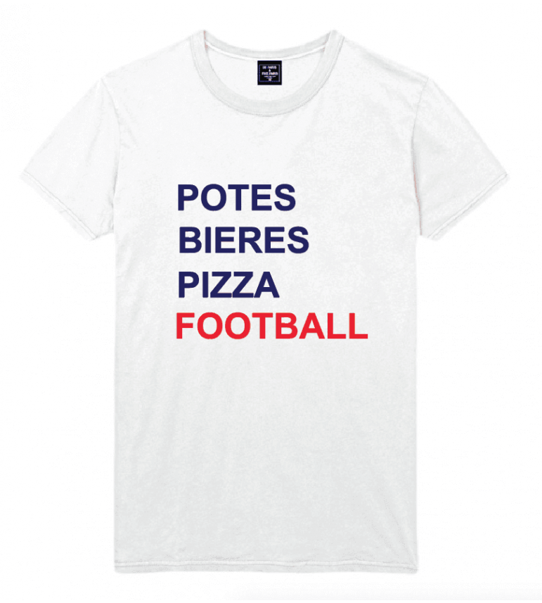 t-shirt homme POTES BIERES PIZZA FOOTBALL