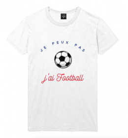 man t-shirt JE PEUX PAS J'AI FOOTBALL