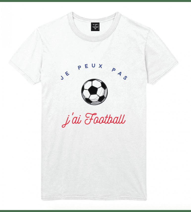 t-shirt homme  JE PEUX PAS J'AI FOOTBALL