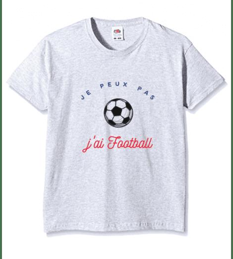 T_SHIRT ENFANT JE PEUX PAS J'AI FOOTBALL