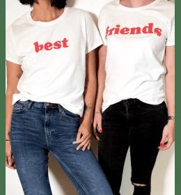 duo t-shirts femme BEST FRIENDS ROUGE