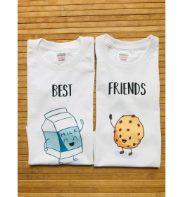 Duo t-shirts enfant BEST FRIENDS COOKIE MILK
