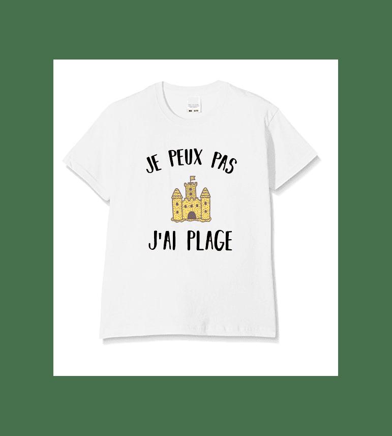 t-shirt enfant JE PEUX PAS J'AI PLAGE