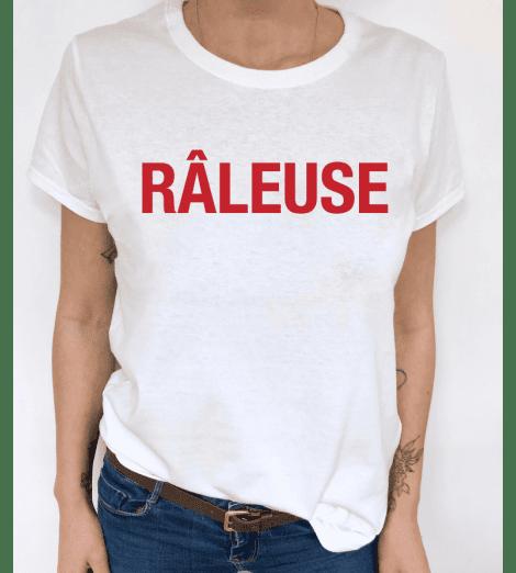 t-shirt femme RÂLEUSE rouge