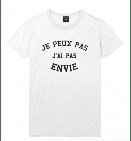 t-shirt homme JE PEUX PAS J'AI PAS ENVIE