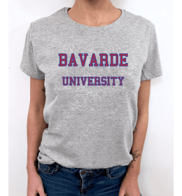 t-shirt femme BAVARDE UNIVERSITY