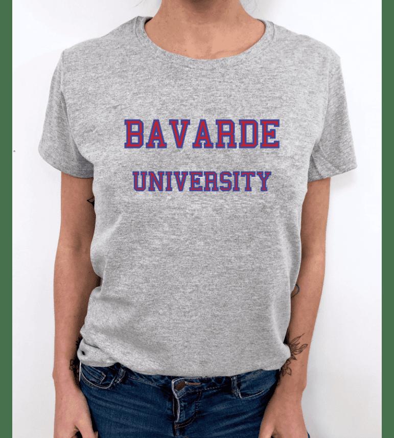 8982df02ff3 t-shirt femme BAVARDE UNIVERSITY - LUXE FOR LIFE De Paris