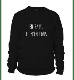 Man Sweater En fait je m'en fous