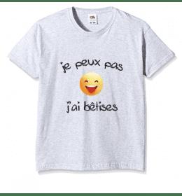 t-shirt enfant JE PEUX PAS J'AI BÊTISES