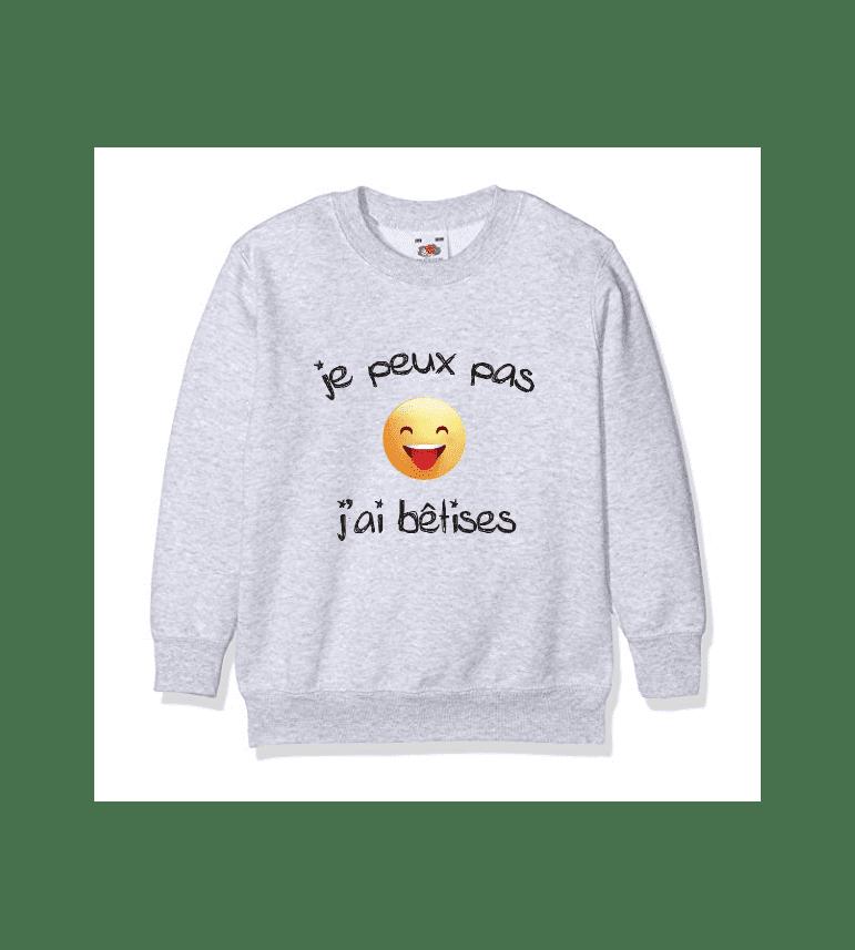 Life Pas For Bêtises Luxe Peux J'ai Paris Je De Sweat Enfant xQECorBeWd