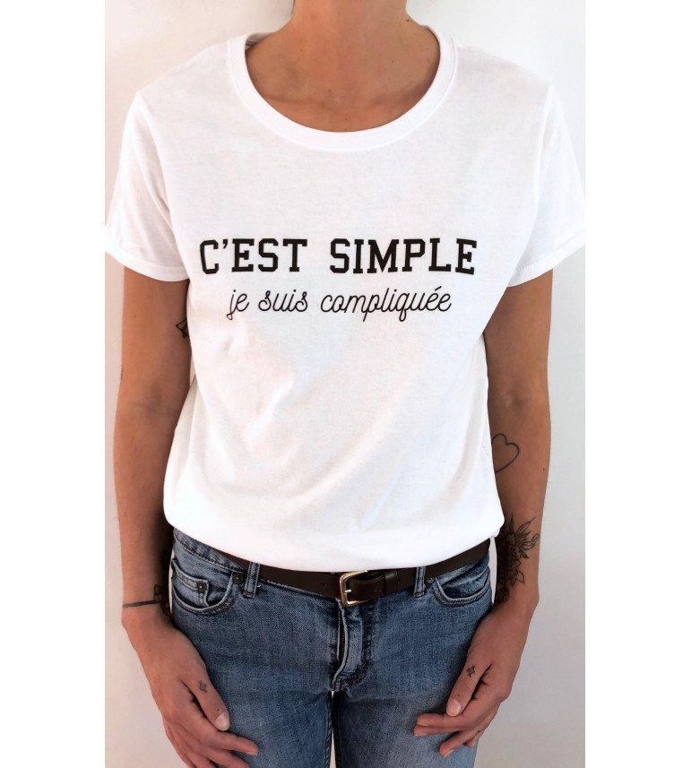 T-shirt femme C'EST SIMPLE JE SUIS COMPLIQUEE